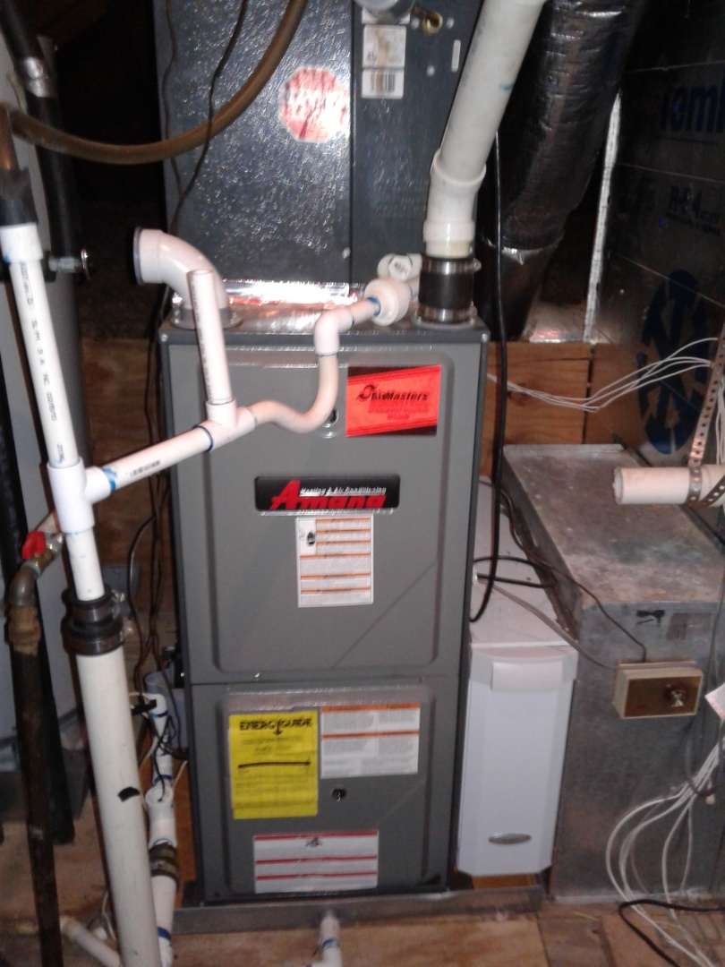 Olive Branch, MS - Heat tune up and safety inspection on an Amana furnace.