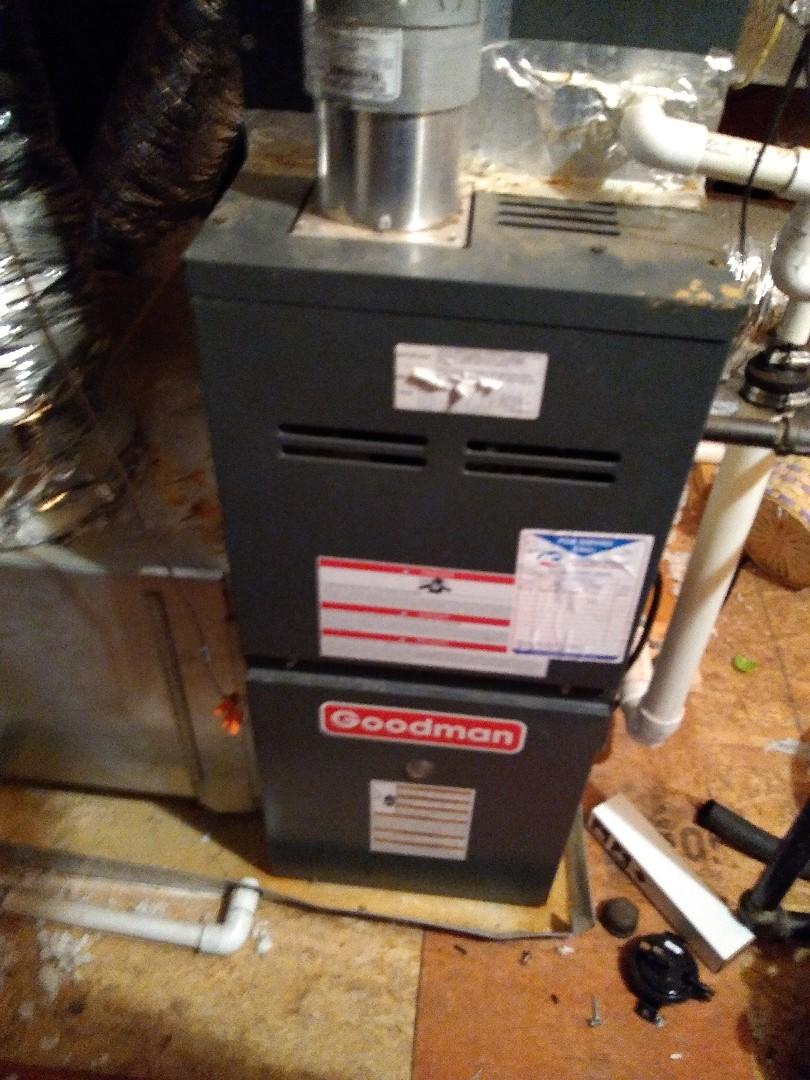 Arlington, TN - Service call on Goodman furnace