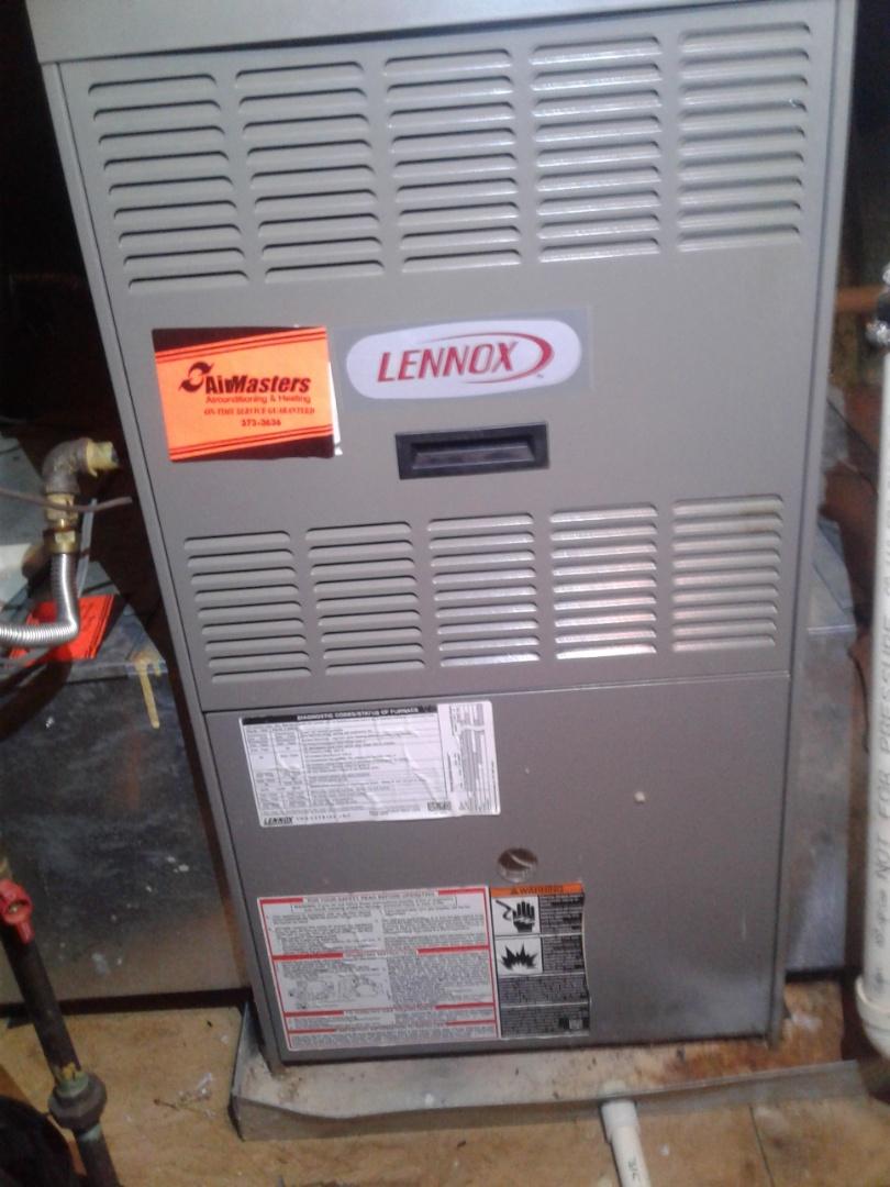 Arlington, TN - Service and repair on a Lennox furnace.