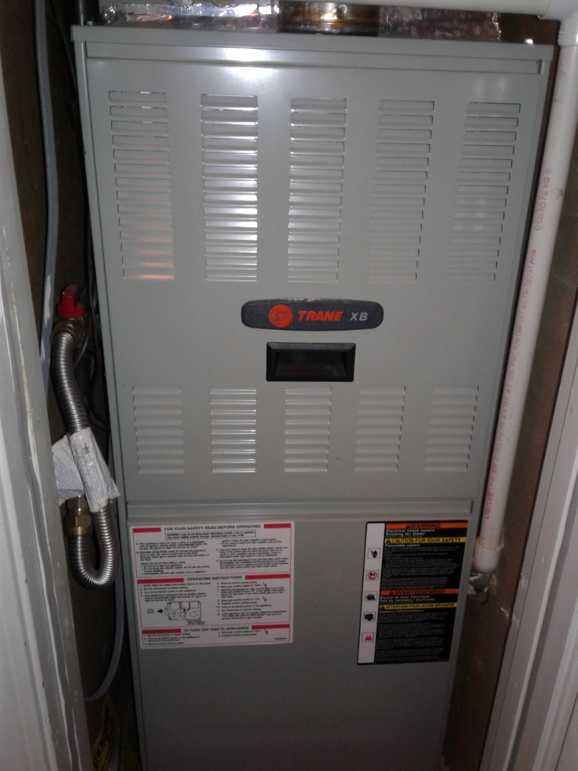 Millington, TN - Heat tune up and safety inspection on a Trane furnace.