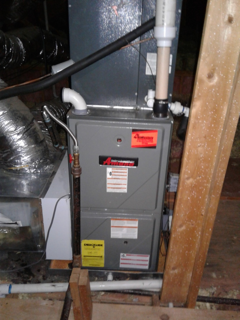 Collierville, TN - Heat tune up and safety inspection on an Amana furnace.