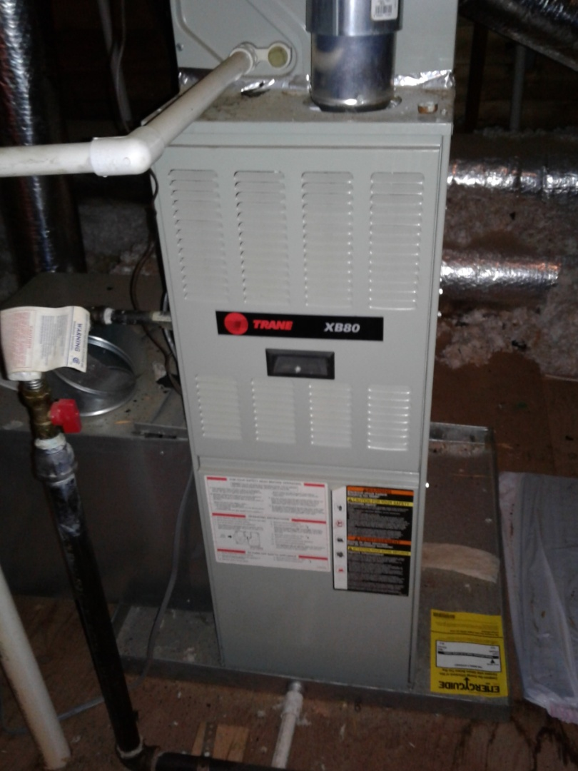 Memphis, TN - Service and inspection on a Trane furnace.