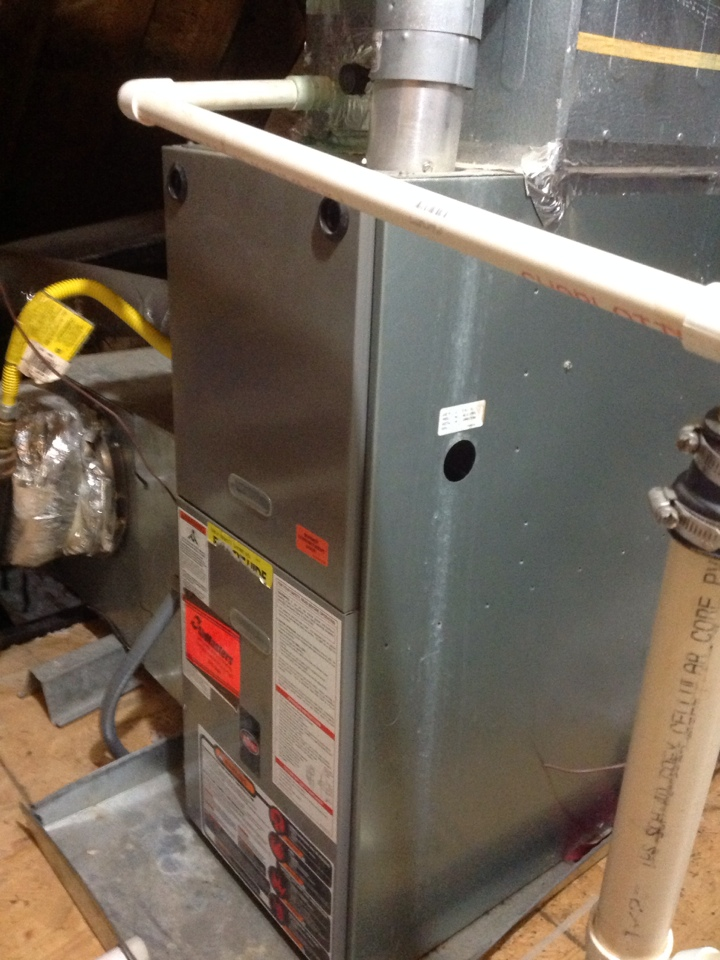 Oakland, TN - Heating tune up on Rheem furnaces.