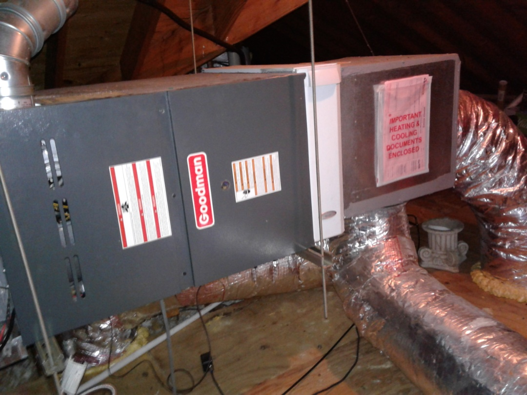 Germantown, TN - Heat tune up and safety inspection on a Goodman furnace.