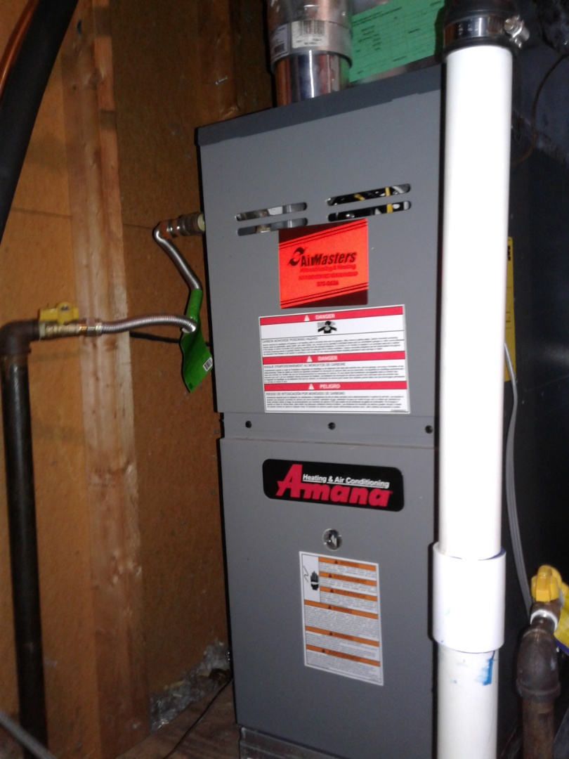 Germantown, TN - Heat tune up and safety inspection on an Amana furnace.