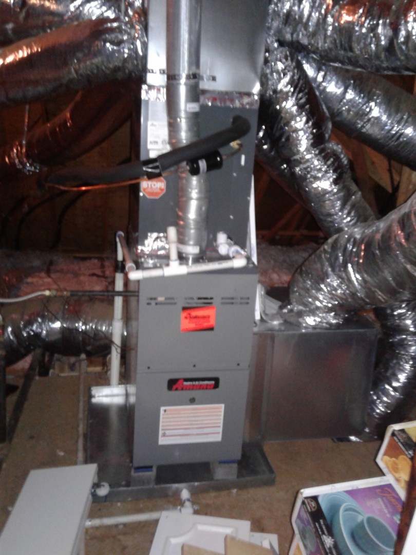 Bartlett, TN - Heat tune up and safety inspection on an Amana furnace.
