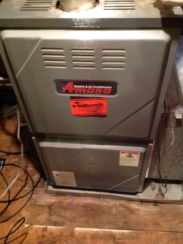 Atoka, TN - Heating tune up on Amana furnaces.