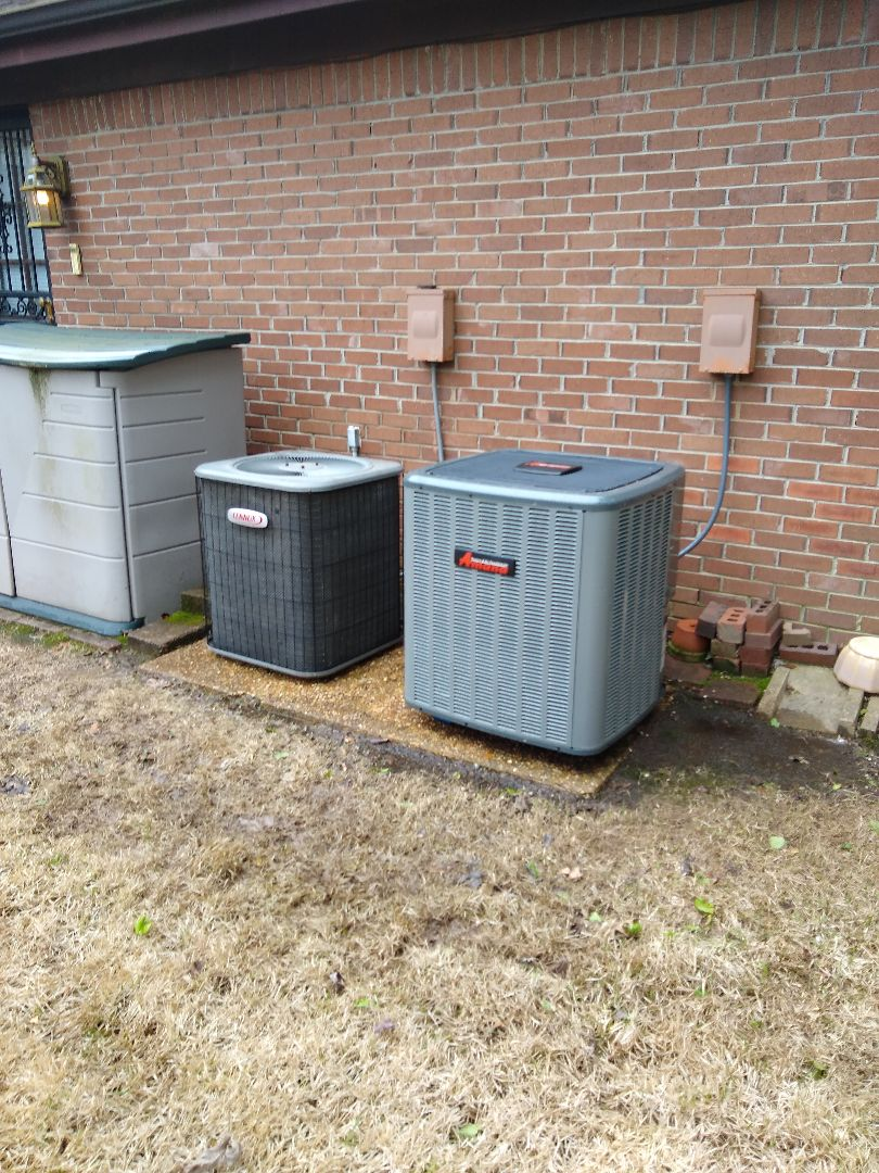 Germantown, TN - Tune up on Lennox air conditioner and start up on Amana air conditioner