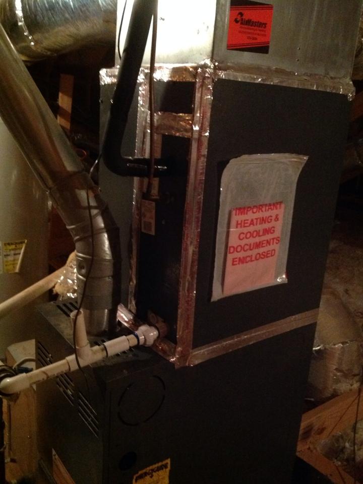 Oakland, TN - Heating tuneup on Amana furnace