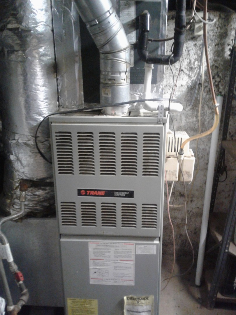 Heat tune up and safety inspection on a Trane furnace.