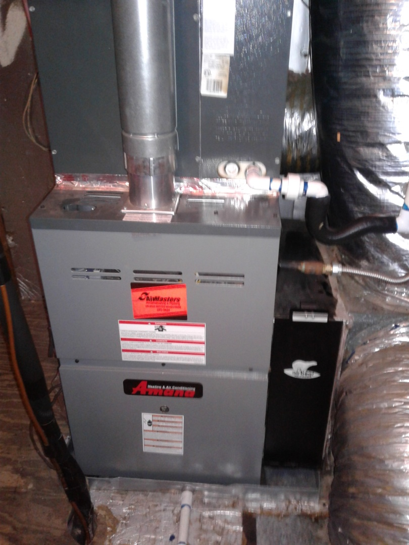 Check and services on an Amana ac system.
