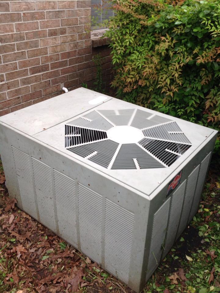 Atoka, TN - AC service call and repair on Rheem air conditioner.