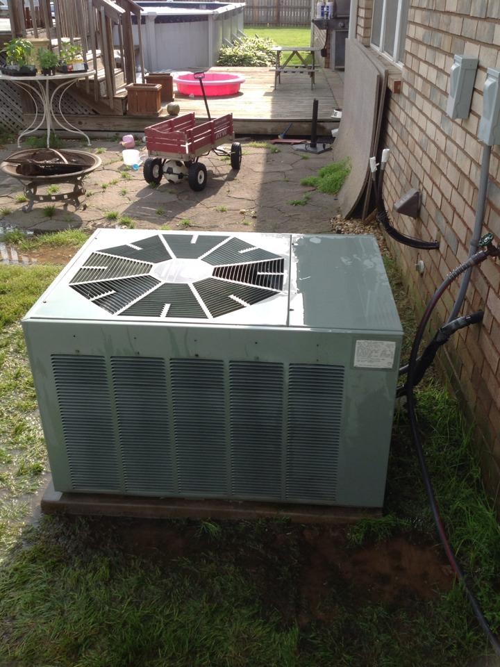 Atoka, TN - AC tune up on Rheem air conditioner.