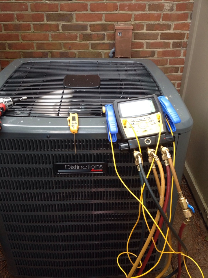 Atoka, TN - AC tune up on Amana air conditioner.