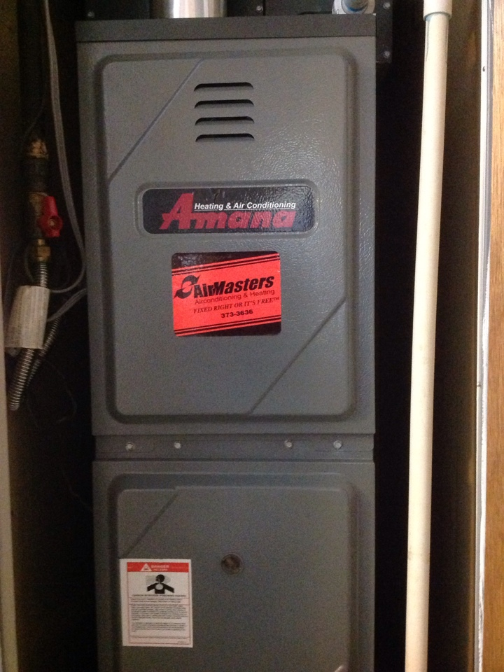 Horn Lake, MS - Heating tune up on an Amana furnace.