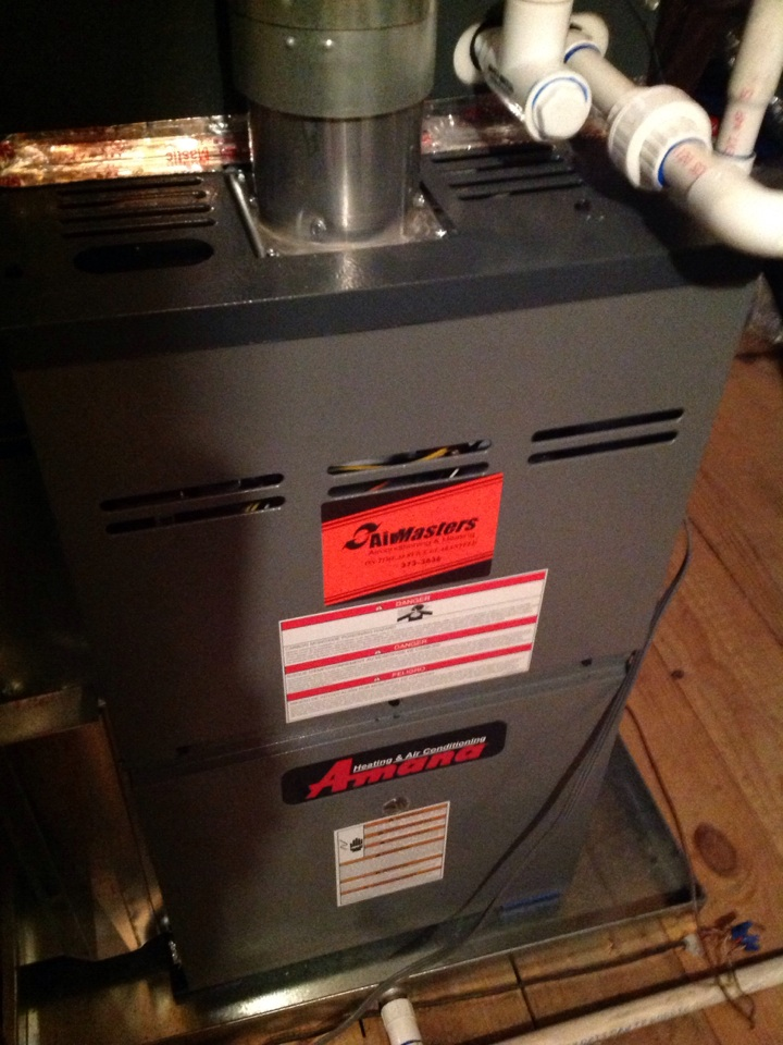 Oakland, TN - Heating tune up on Amana furnace.