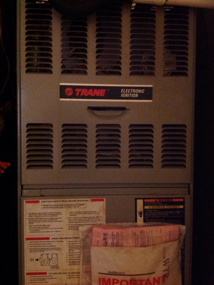 Olive Branch, MS - Heating tune up on Trane furnace.