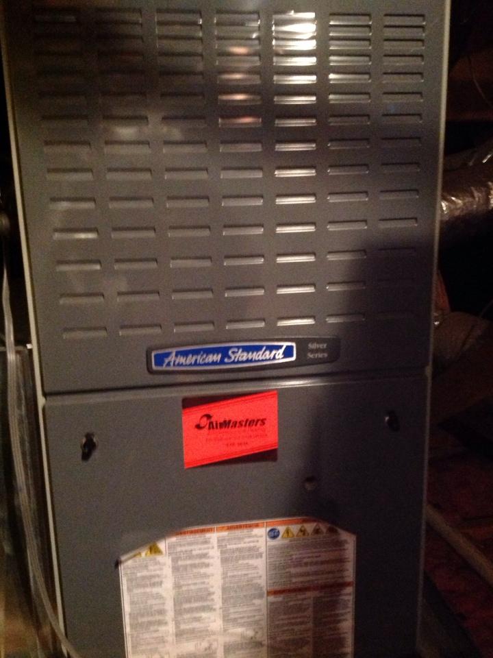 Atoka, TN - Heating tune up on American Standard furnace.