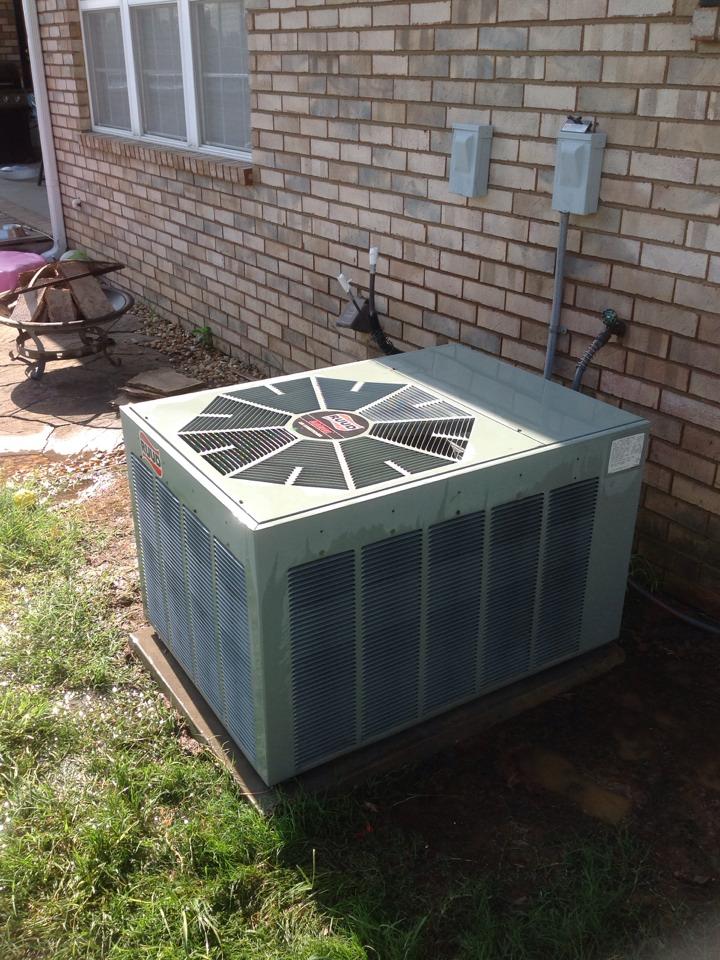 Atoka, TN - AC tune up on Ruud air conditioner.
