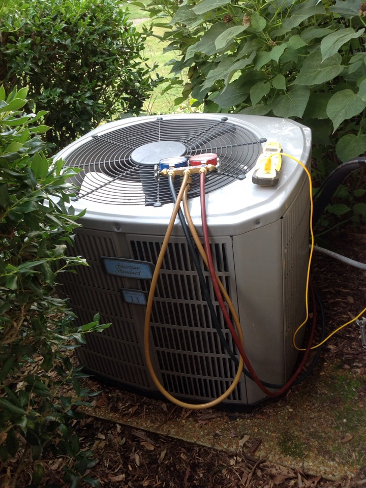 Millington, TN - AC service call and repair on American Standard air conditioner.