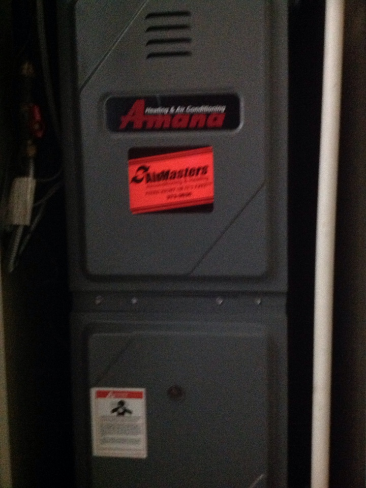 Horn Lake, MS - Heating tune up on Amana furnace.