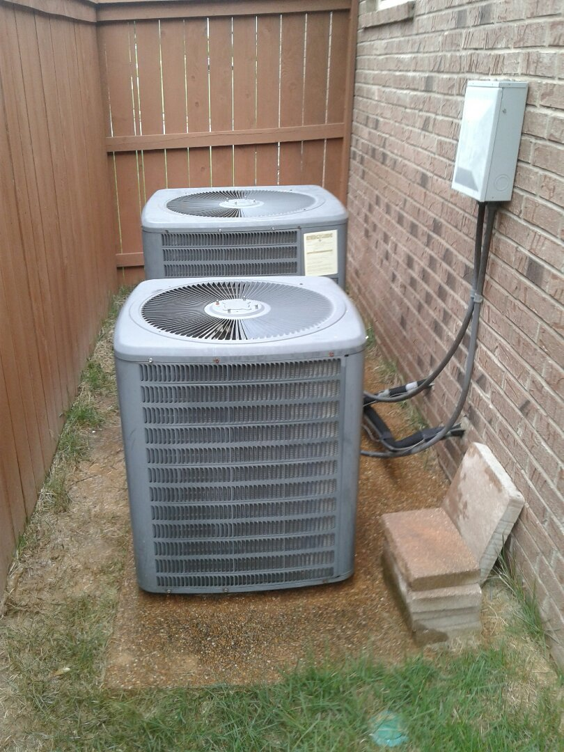 Bartlett, TN - AC TUNE UP ON TWO AMANA SYSTEMS, UNDER MEMBERSHIP.
