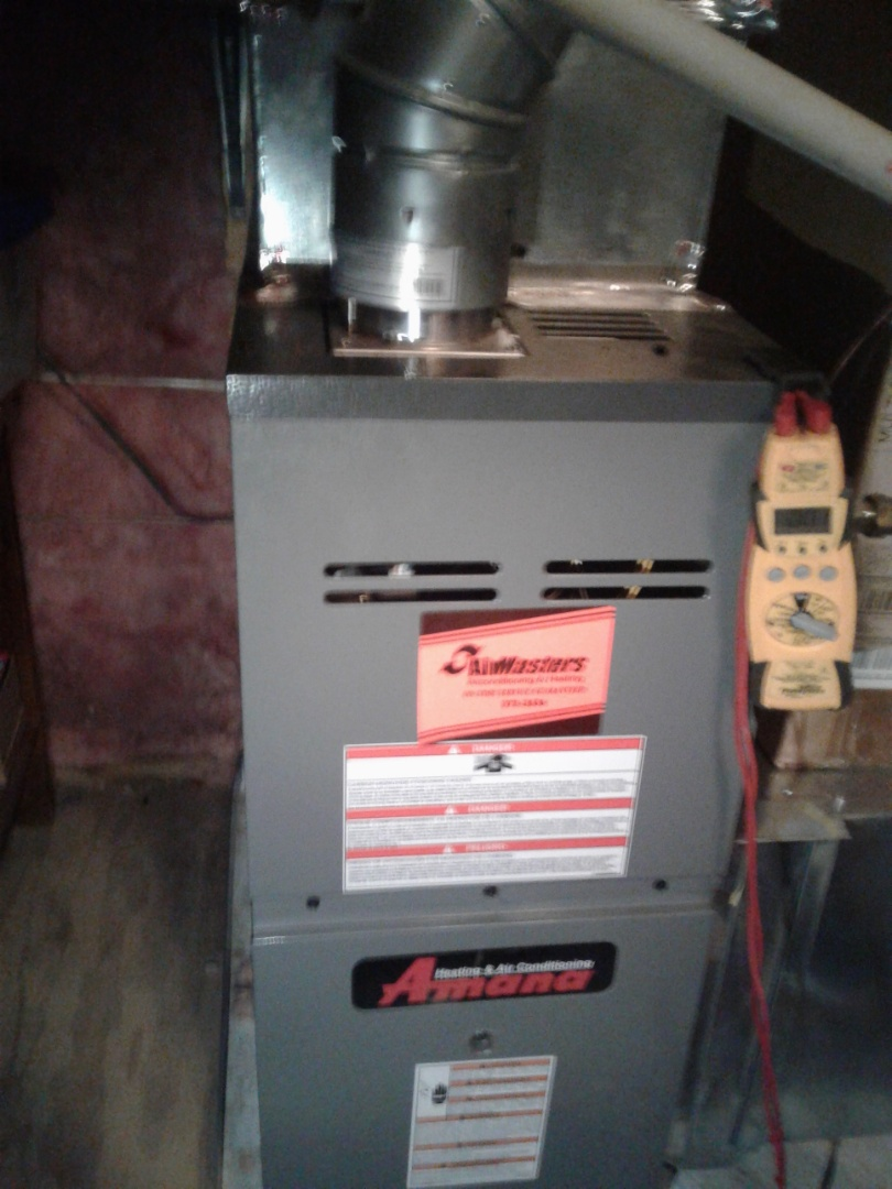 Arlington, TN - heat tune up on Amana furnace