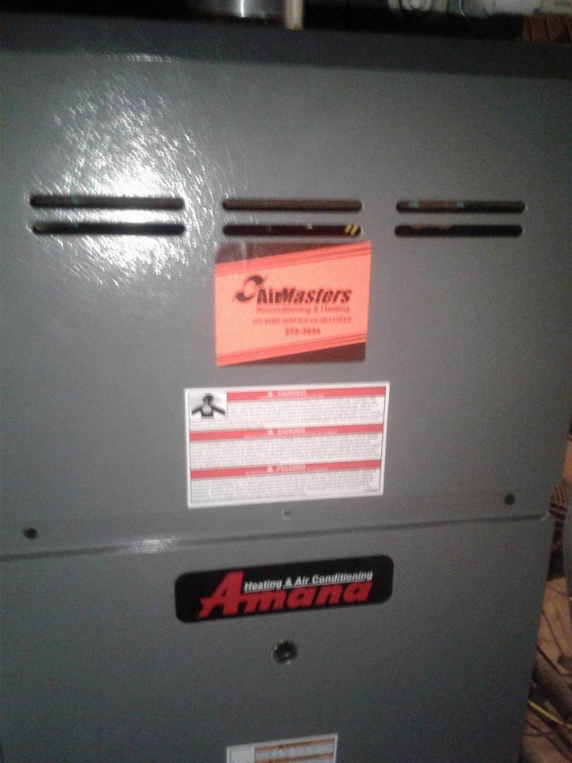 Millington, TN - heat tune up on Amana furnace