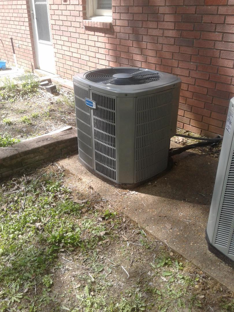 Collierville, TN - a.c. repair on American standard air conditioner