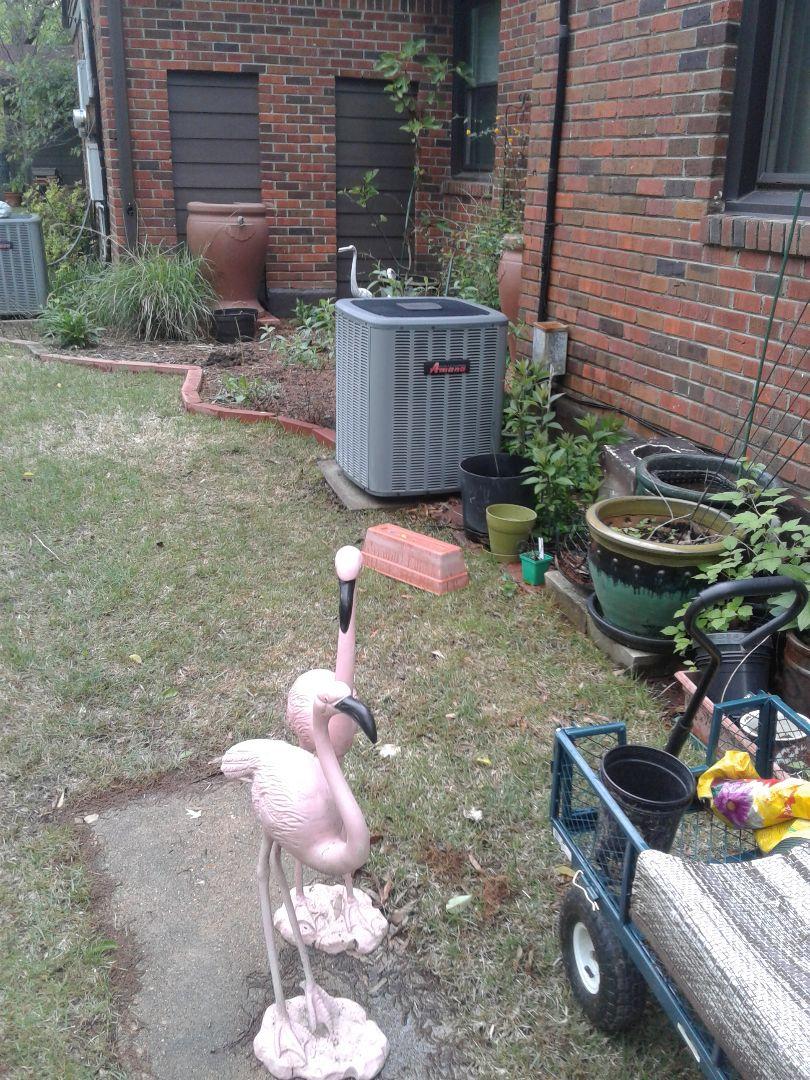 Memphis, TN - a.c. tuneup on Amana air conditioner