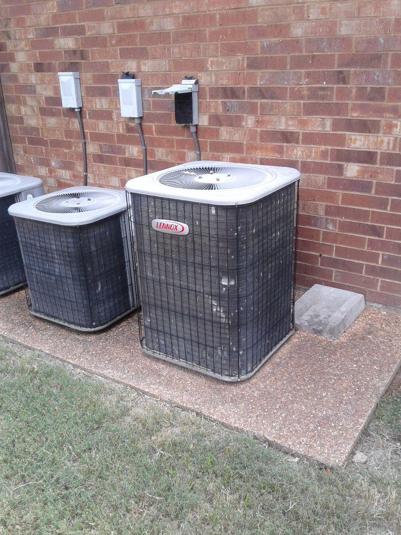 Arlington, TN - Service column repair on Lennox air conditioner