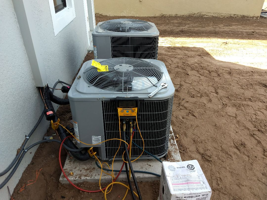 Orlando, FL - Finished installing double system carrier air conditioning units.