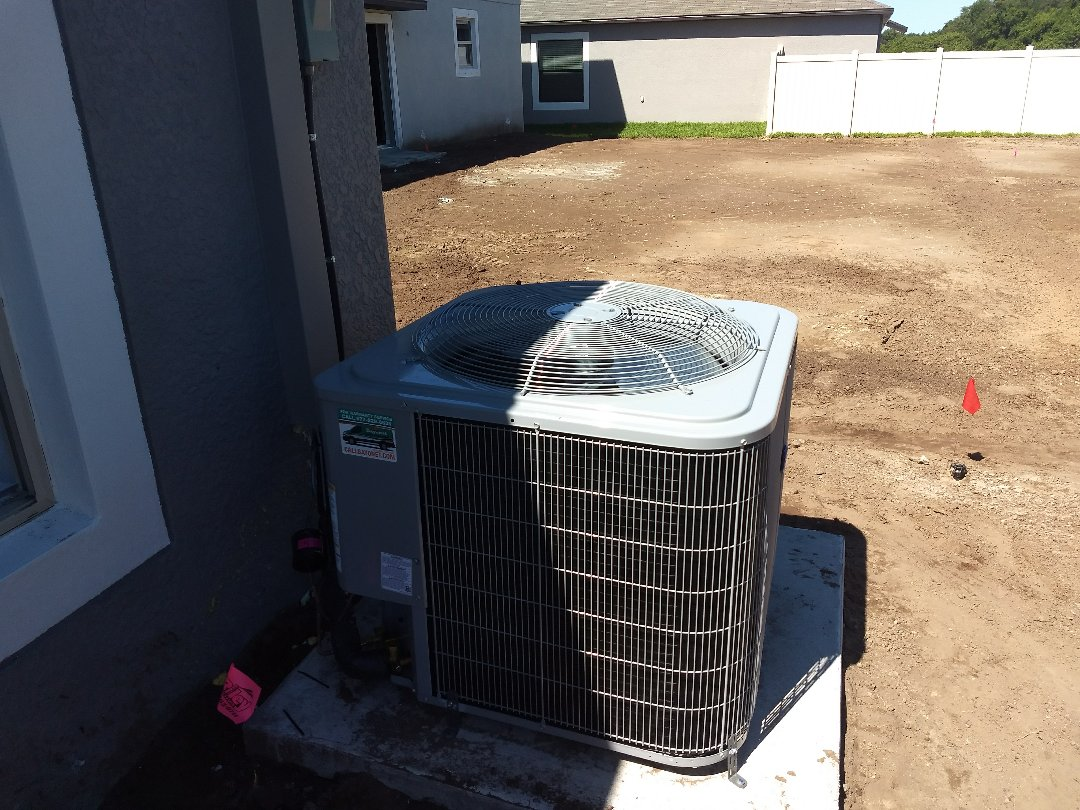 Riverview, FL - Finished installing carrier air conditioning unit.