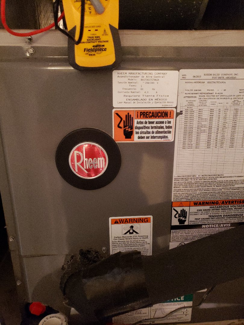 Palm Harbor, FL - Performed tune up on a RHEEM HEAT PUMP SYSTEM