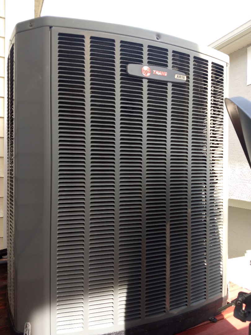 Tarpon Springs, FL - Residential maintenance. Trane heat-pump AC system.