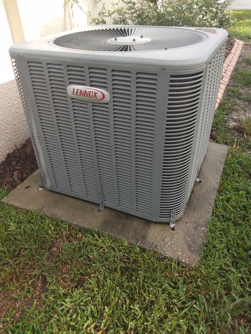 Spring Hill, FL - Tune up and maintenance of residential Lennox split system AC.