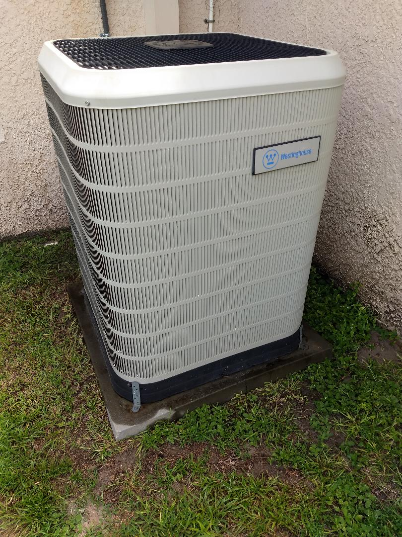 Spring Hill, FL - Tune-up and maintenance of Westinghouse residential AC system.