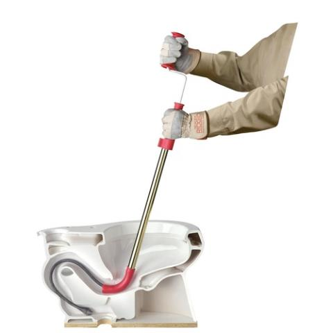 Fayetteville, GA - Clearing down stairs toilet with toilet auger