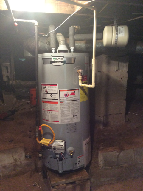 Decatur, GA - Installing (1) 40 gallon AO Smith water heater and pressure reducing valve