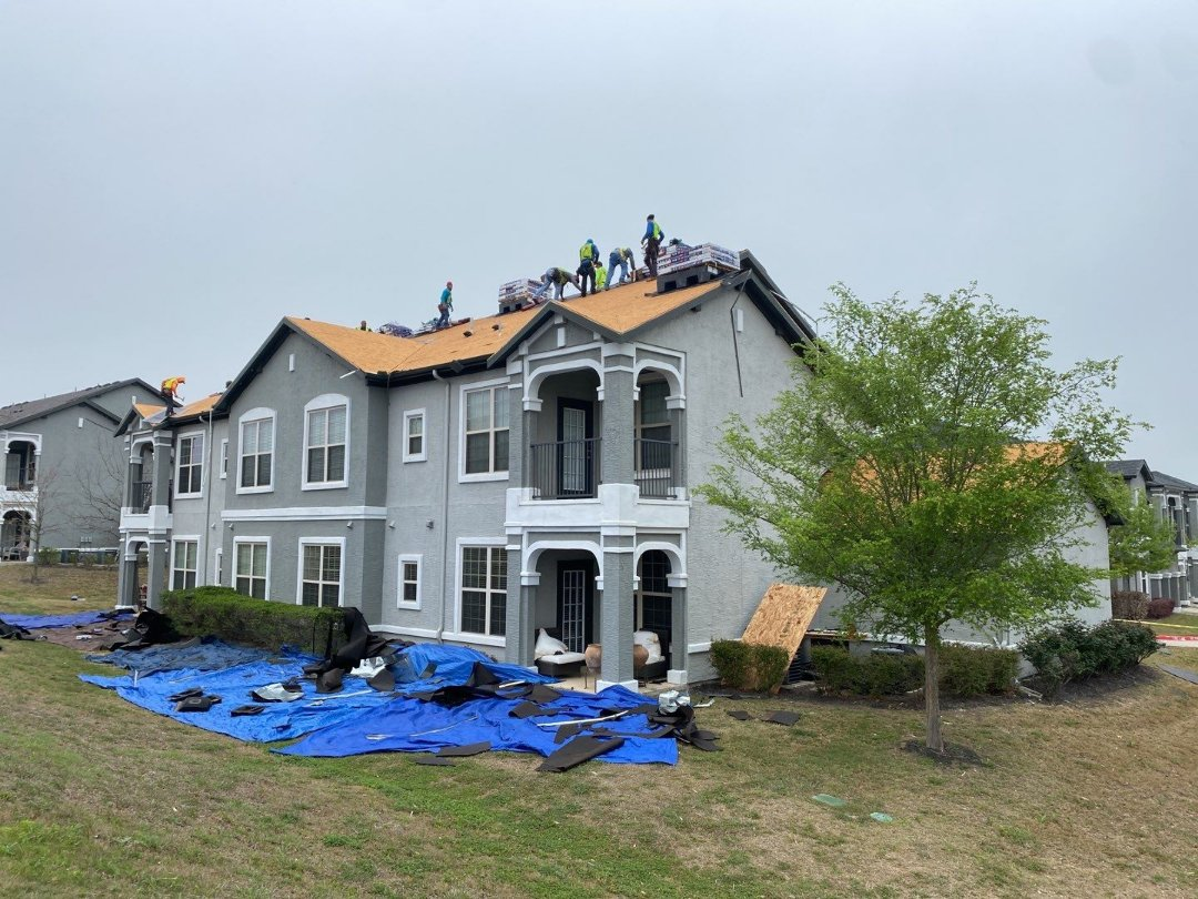 Littleton, CO - Installing a new roof system on this apartment complex