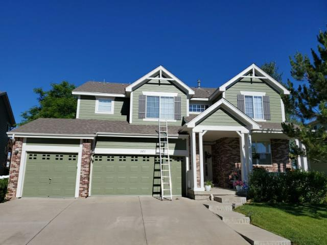 Aurora, CO - Roof replacement after Hail storm. We handled the claim and negotiated a fair price for the Homeowner.