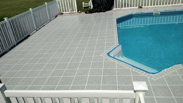 Johns Creek, GA - Our pool deck turned out great! The textured design is perfect! I would never have thought about doing a GRANIFLEX tile design if it wasn't for Reeves Concrete Solutions! Not only does this system protect my concrete, but it also gives my pool area a unique look! I can't wait for Summer to come so I can show it off to all my friends and family! I LOVE it!!! High-quality results at a fair price, who wouldn't love that lol!! <3 10/10 recommended