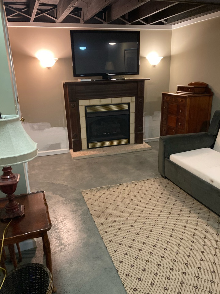 Atlanta, GA - Today we were able to complete this stained basement floor, in Atlanta Georgia.