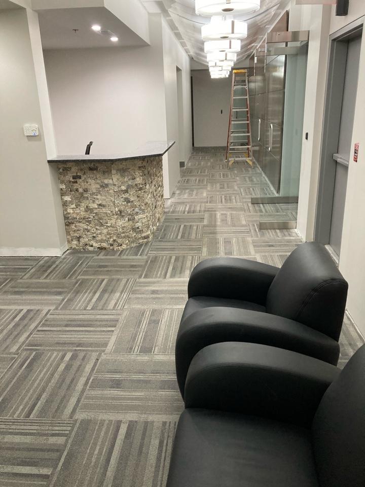 Alpharetta, GA - The second floor of this office building is going to look good in metallic marble epoxy. Near Alpharetta Georgia