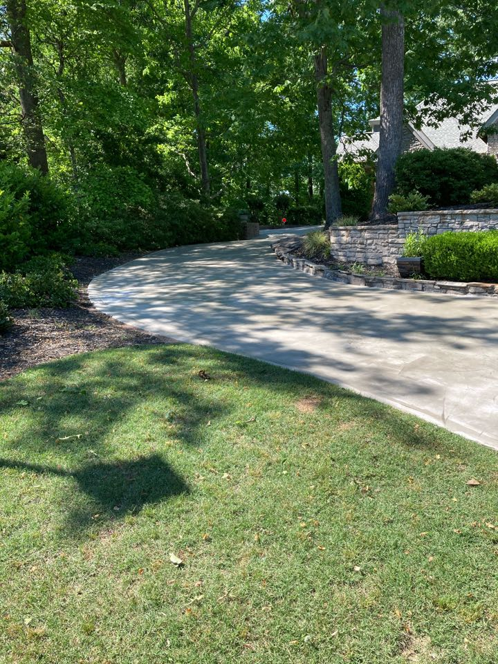 Roswell, GA - We are prepping to do a Driveway resurfacing cementitious overlay near Roswell Georgia