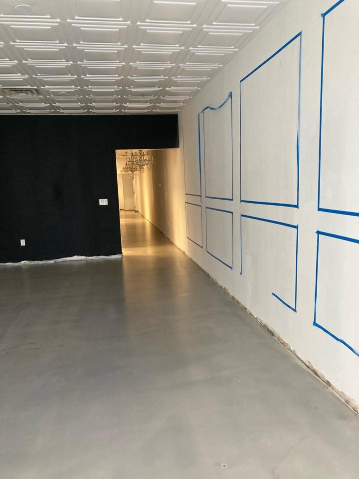 Atlanta, GA - The team just put down this Satin sealer on metallic marble epoxy floor. Near Atlanta Georgia