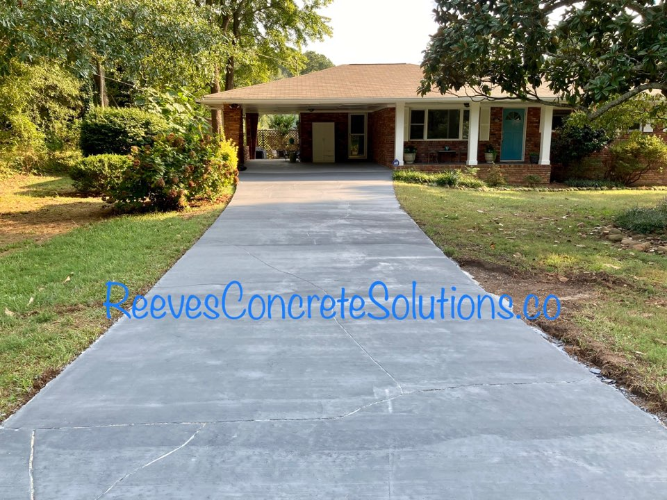 Marietta, GA - The sealer is drying on this driveway resurfacing project