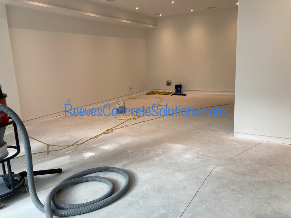 Atlanta, GA - Getting ready to begin this grind and seal concrete basement floor