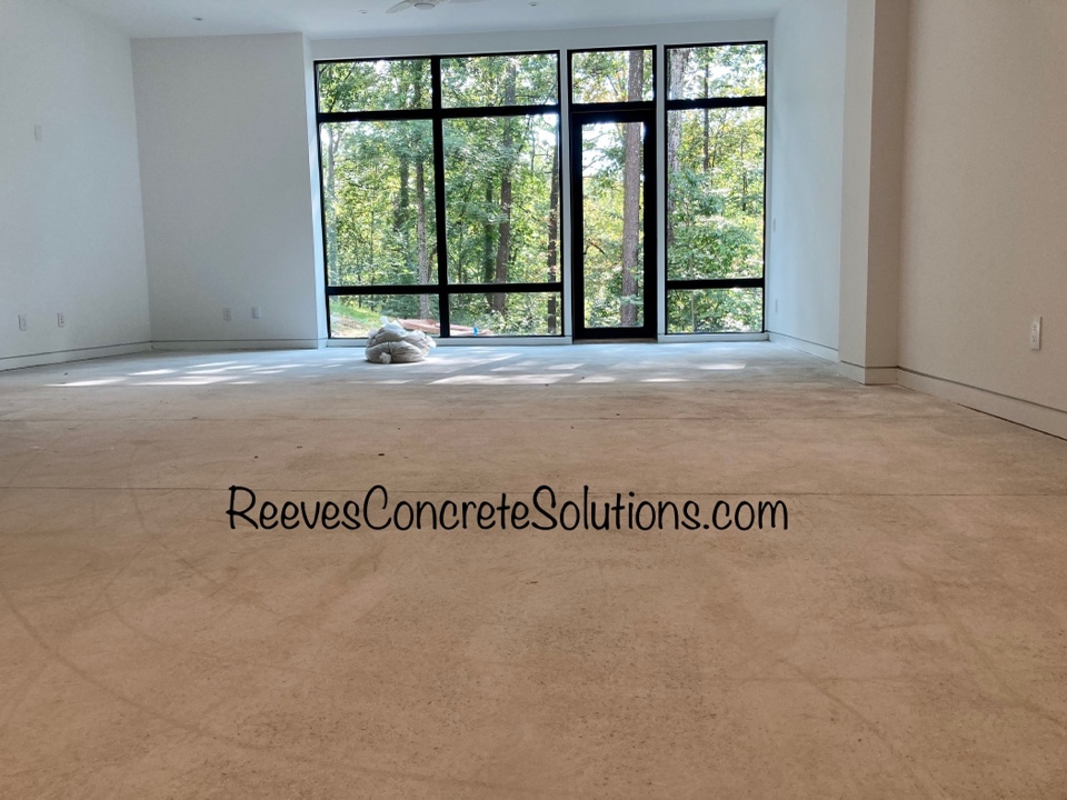 Atlanta, GA - First pass with the grinder is done on this grind and seal basement floor