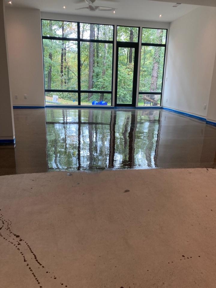 Woodstock, GA - Grind and seal basement concrete floor